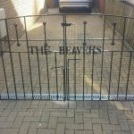 These simple black metal driveway gates have been personalised with the customer's surname to really make a statement at their property in Ayrshire.