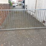 Galvanized box section framed gate rust resistant and secure