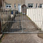 Galvanized garden gates fabricated and installed by Dain Art Iron in Arshire, Scotland