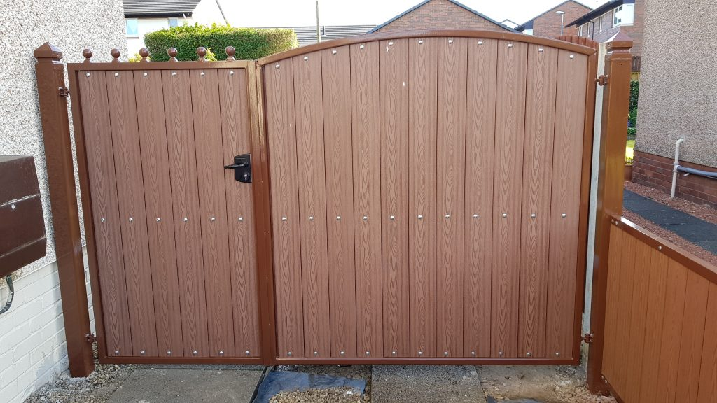 Composite gates installed by Dain Art Iron in Irvine
