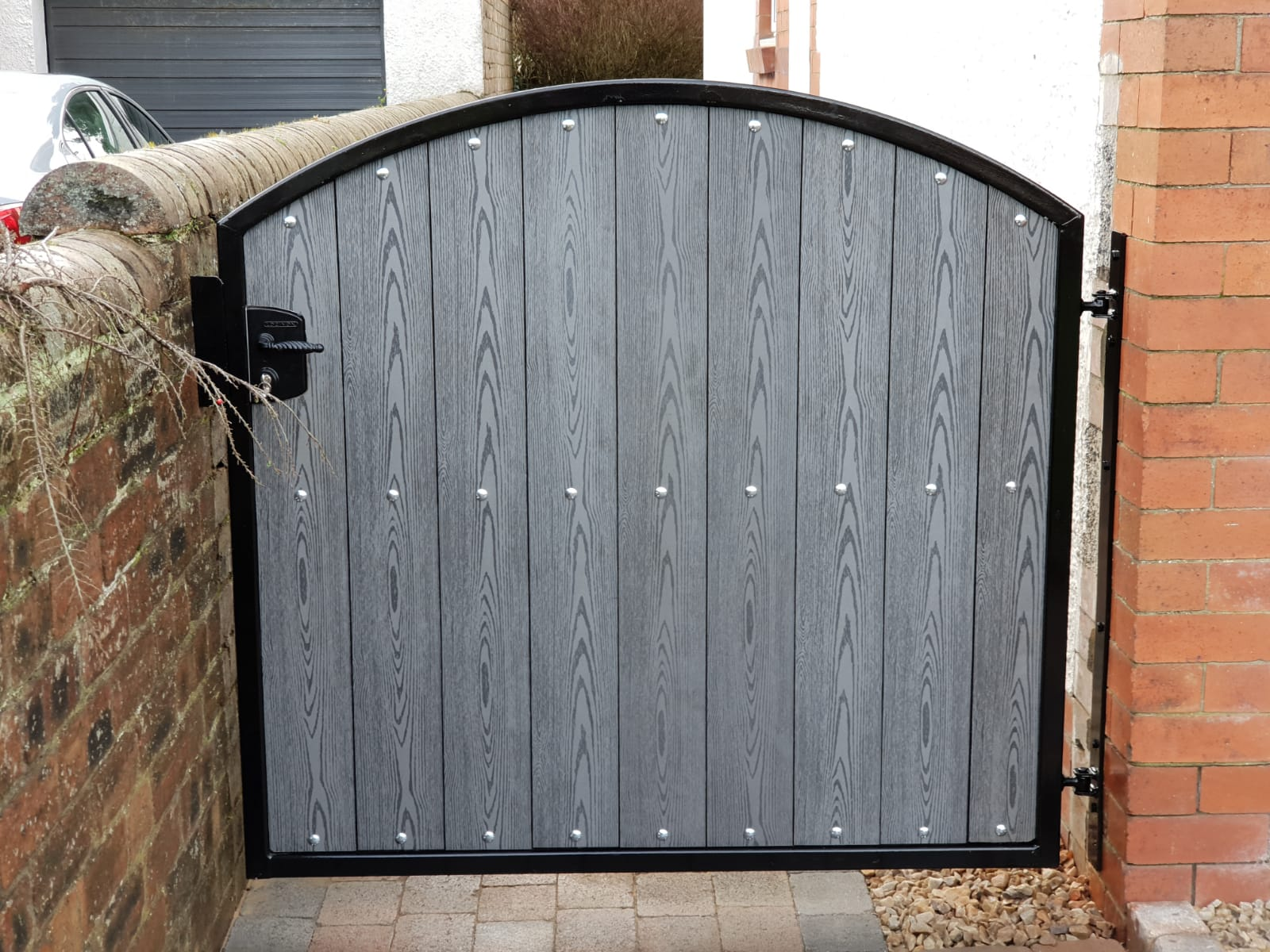 Composite garden gate by Dain Art Iron in Arshire