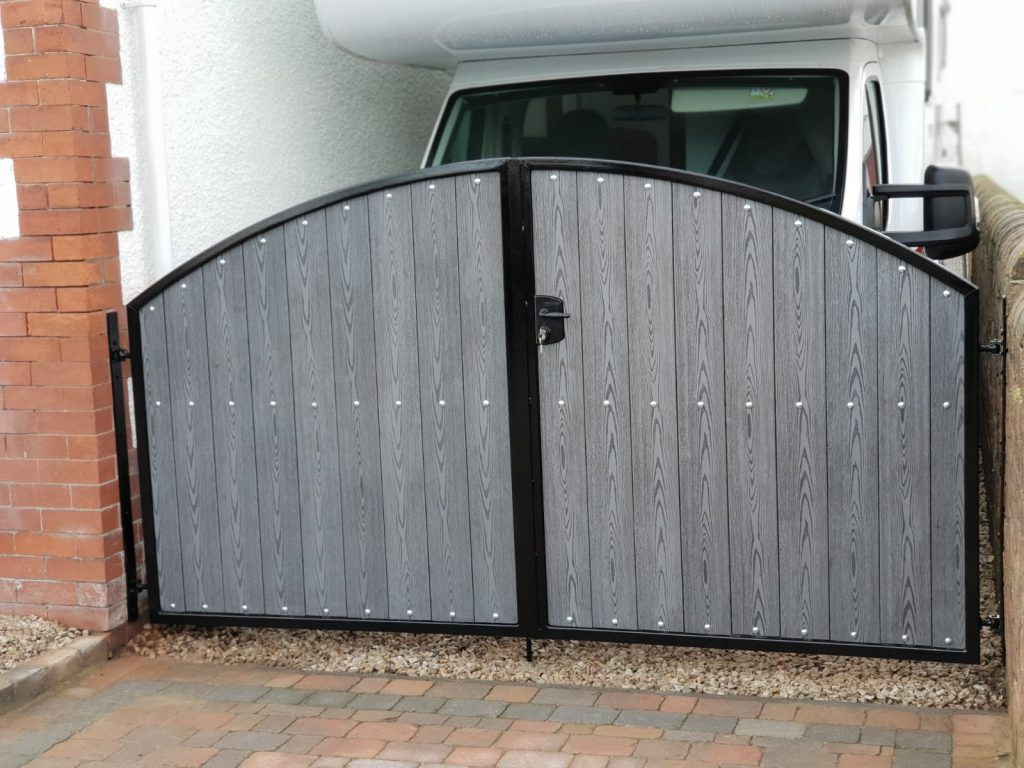 Composite gates with security lock