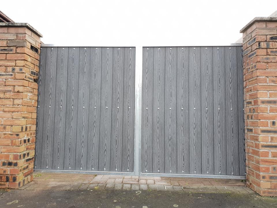 Galvanized composite gates installed in Ayr by Dain Art Iron