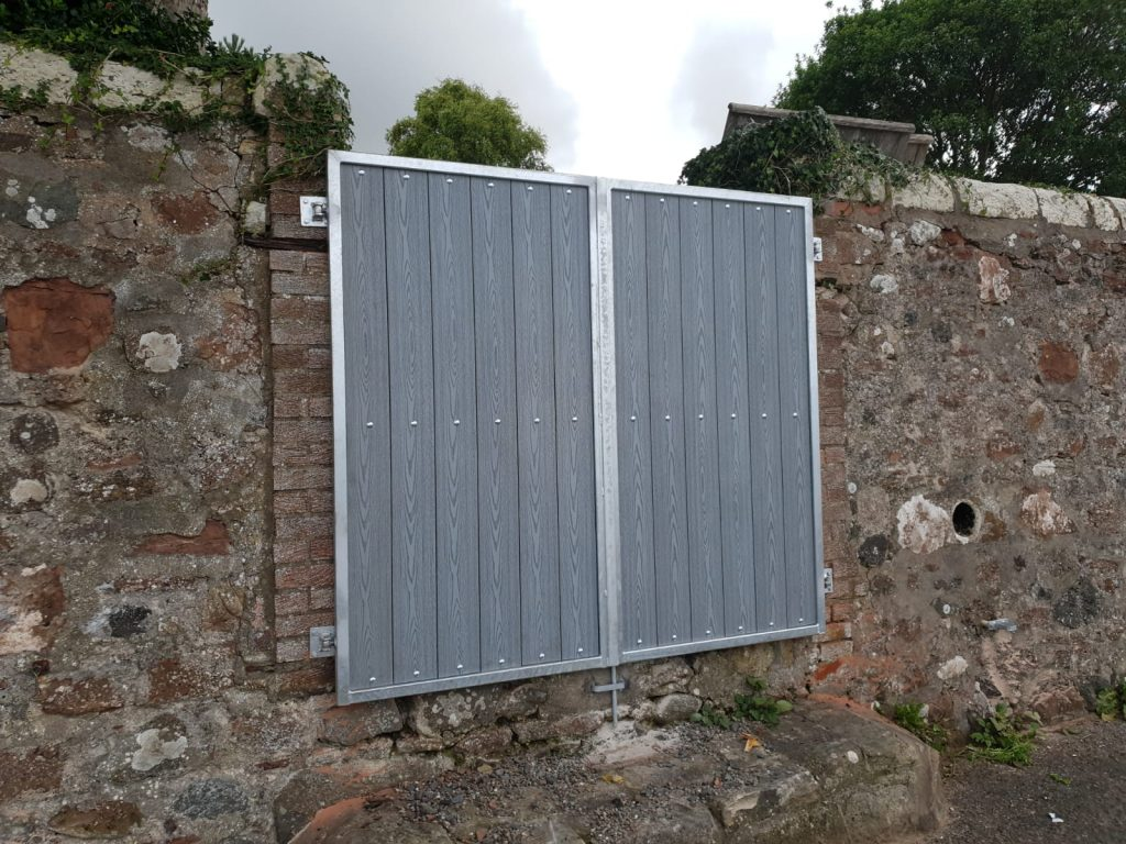 Composite gate installed in West Kilbride by Dain Art Iron