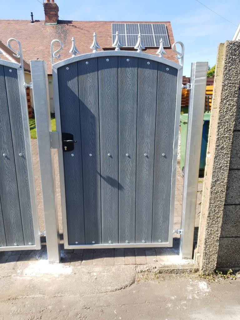 Composite garden gate by Dain Art Iron