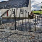 Custom made driveway gates installed by Dain Art Iron