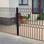 Custom fabricated steel gates installed by Dain Art Iron of Irvine