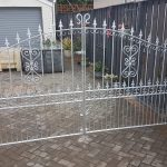 Galvanized gates fabricated and fitted by Dain Art Iron in Ayrshire