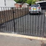 garden driveway gates custom made and installed in Ayrshire, Scotland