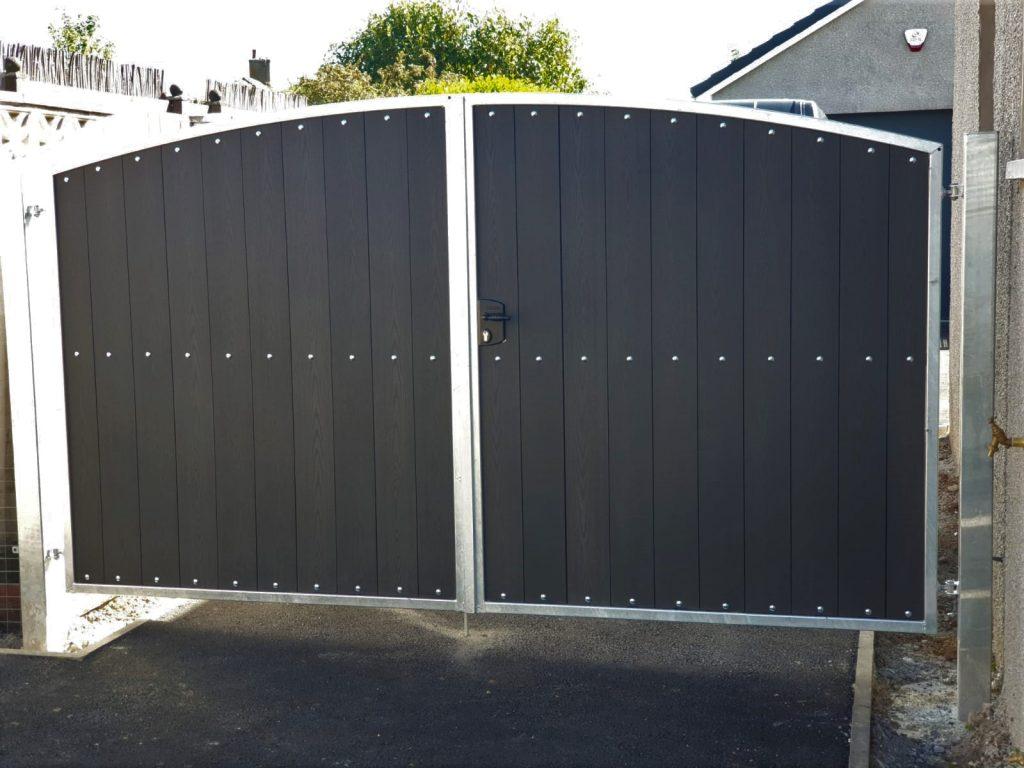 Galvanized composite driveway gates