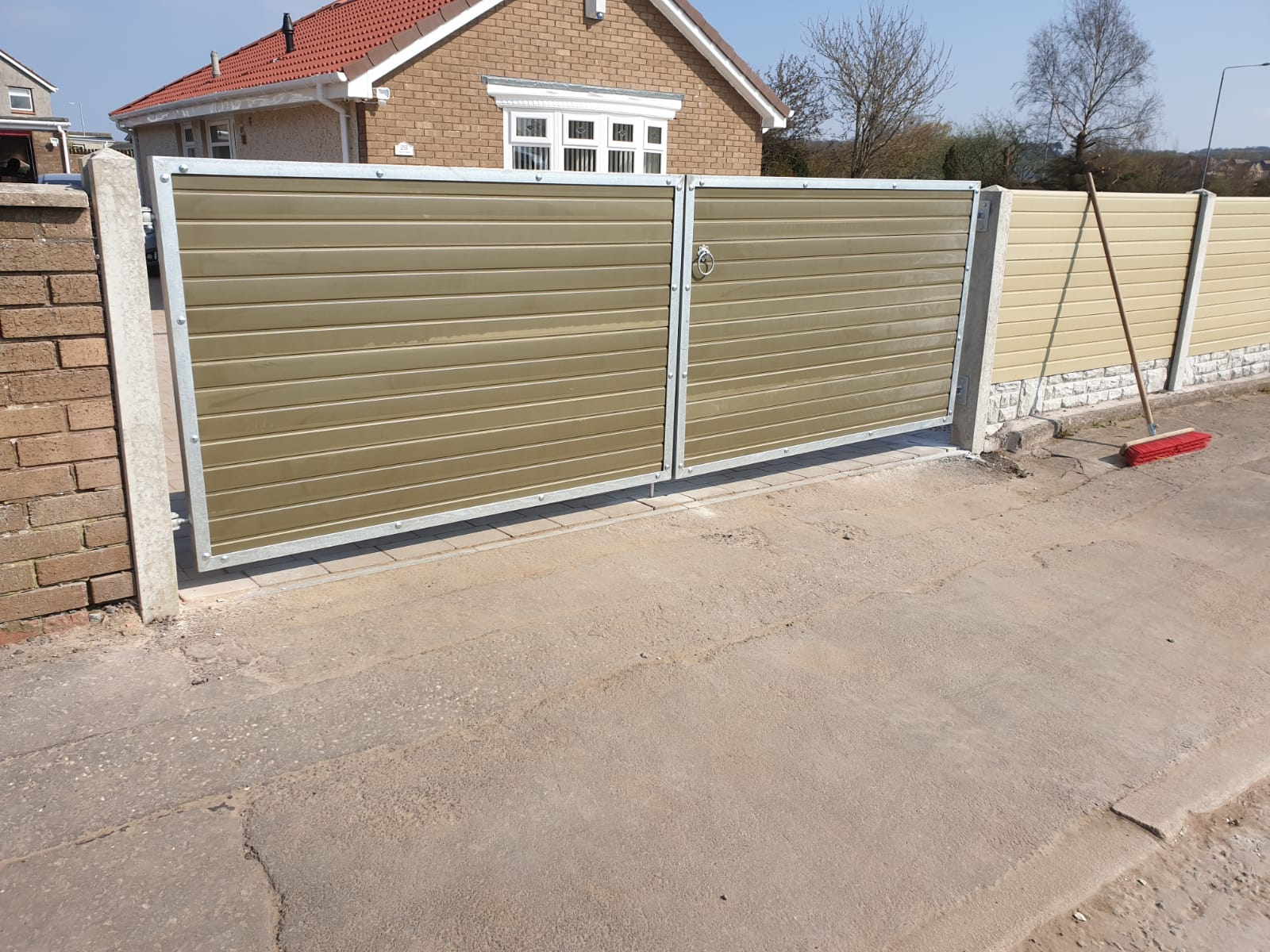 Composite driveway gates by Dain Art Iron in Ayrshire