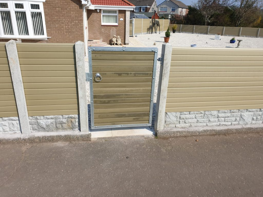 Custom made composite gate made to measure in Ayrshire